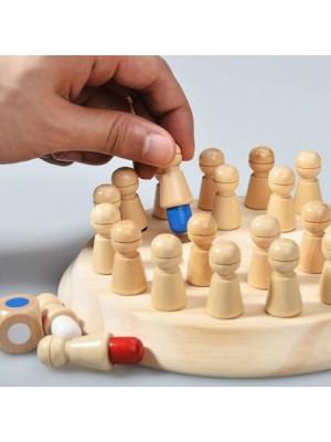 Joc de memorie cu pioni din lemn